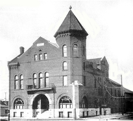 The original Peterborough YMCA structure as it looked from 1896 to 1930.